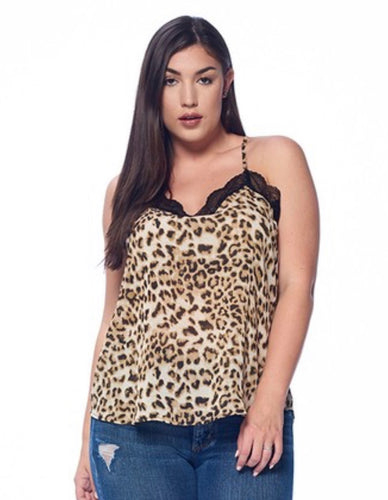 Animal Print Cami Tank with Free Shipping
