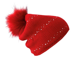 Pom pom beanie with Free Shipping