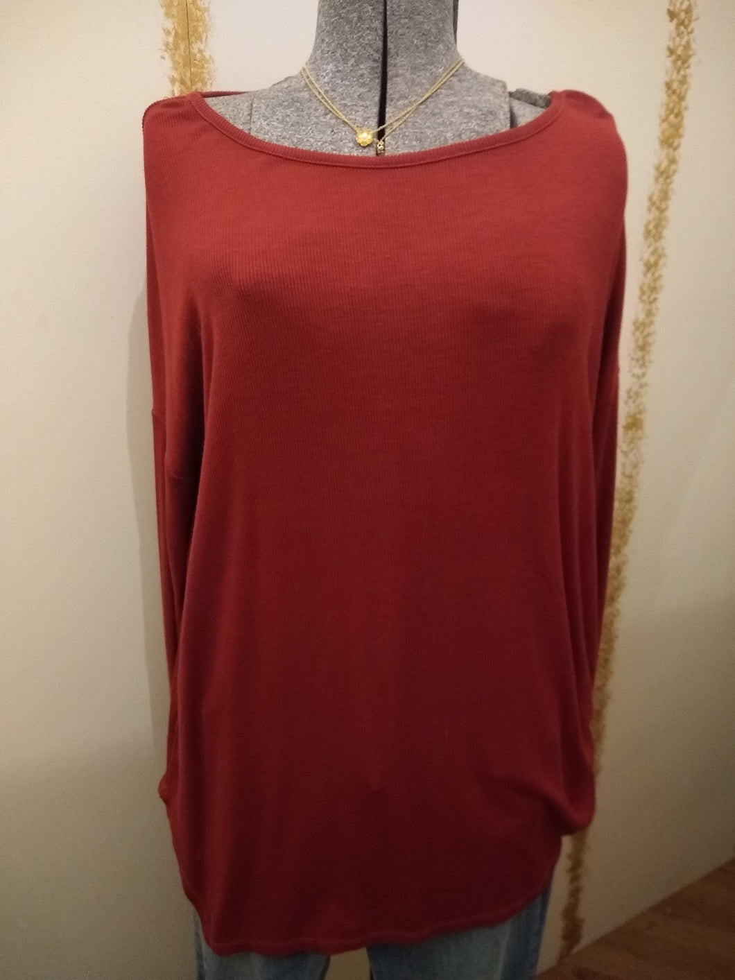 Red Long Sleeve Shirt with Free Shipping