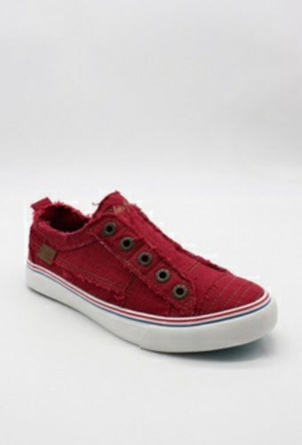 Red Canvas Sneakers with Free Shipping