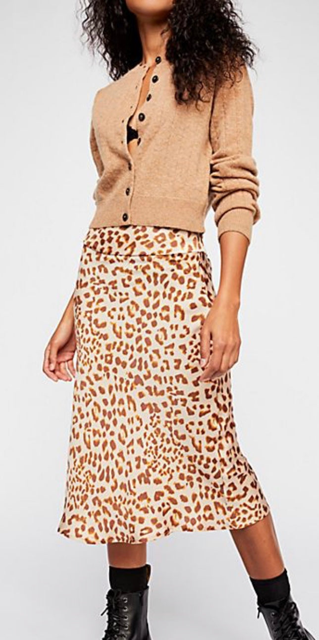 Leopard Print Maxi Skirt Free Shipping