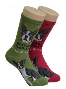 Boston Terrier Socks with Free Shipping