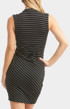 Load image into Gallery viewer, Black & White Stripes Dress Free Shipping