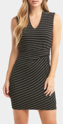 Black & White Stripes Dress Free Shipping