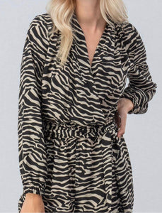 Zebra Print Jumpsuit with Free Shipping