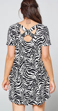 Load image into Gallery viewer, Zebra Print plus size dress with Free Shipping