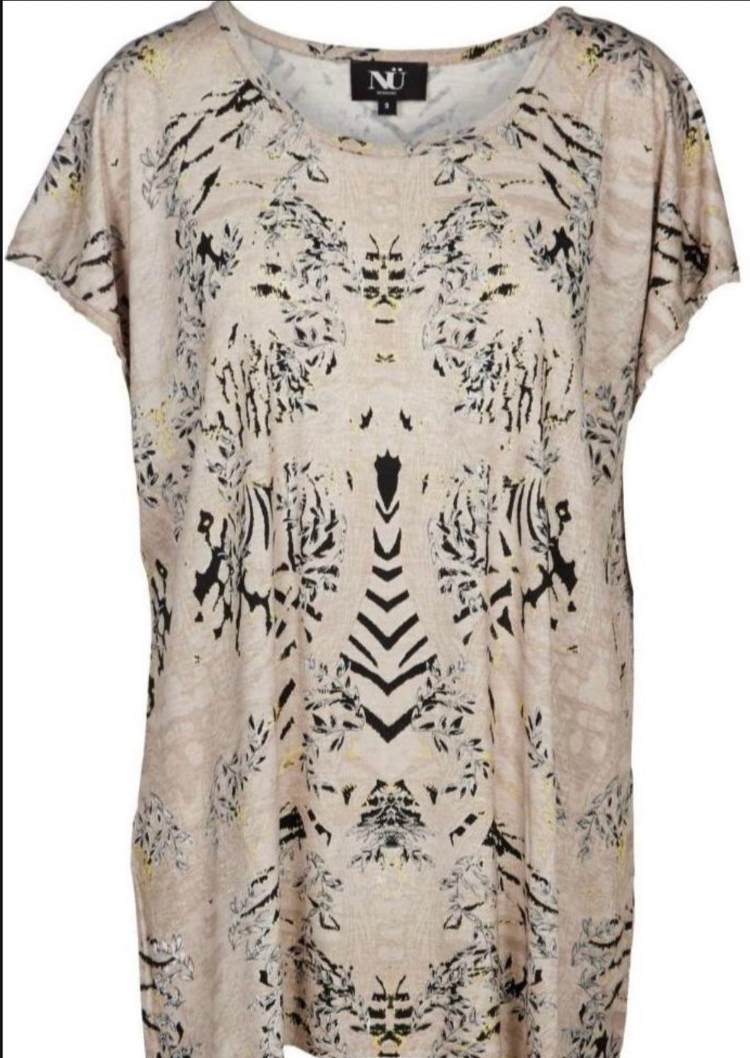 Powder Rose Print Top Free Shipping