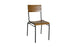 Titus Side Chair Oak-Gunmetal-Grey