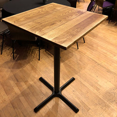 Poseur Tables - Matt metal cross base