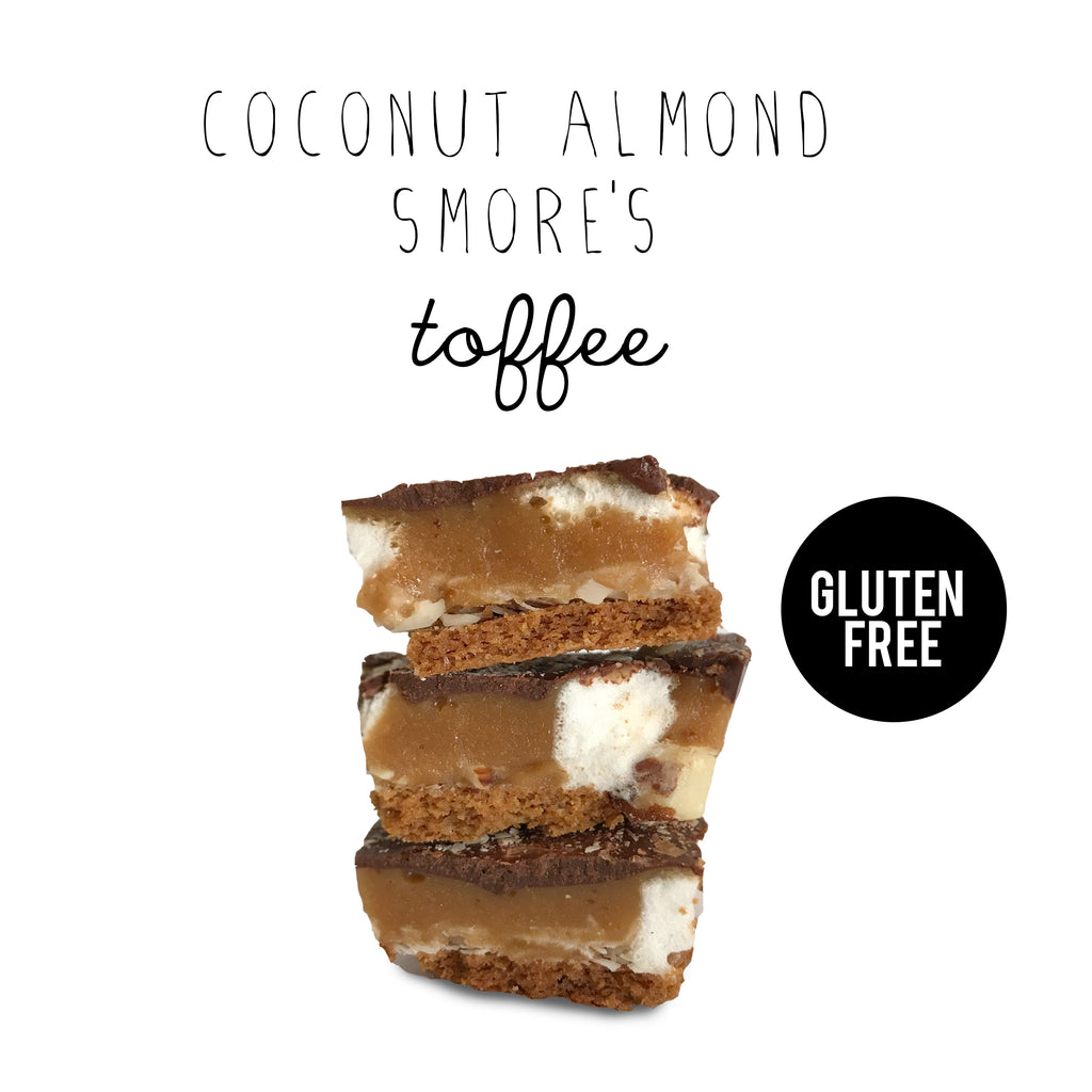Coconut Almond S'mores Toffee