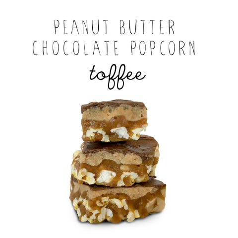 Peanut Butter Chocolate Popcorn Toffee