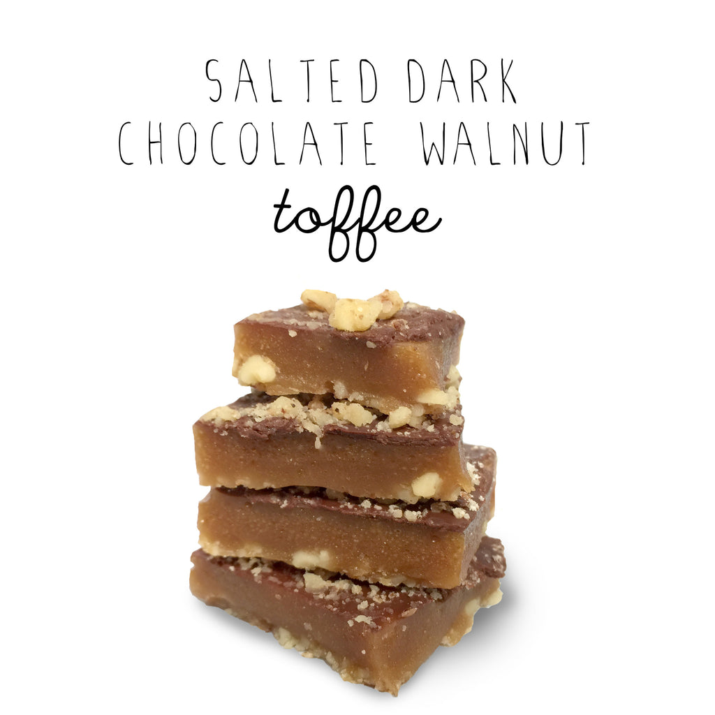 Salted Dark Chocolate Toffee