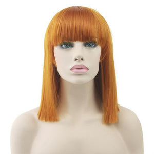 """Bimbo Suzy"" Short Wig w/ Bangs Sissy Panty Shop Copper 16 inches"