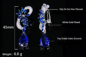 Blue Crystal Glam Dangle Earrings Sissy Panty Shop