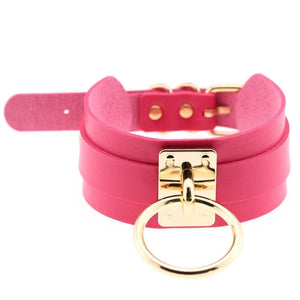 Sissy Slave Leather Choker Sissy Panty Shop Bubble Gum Pink