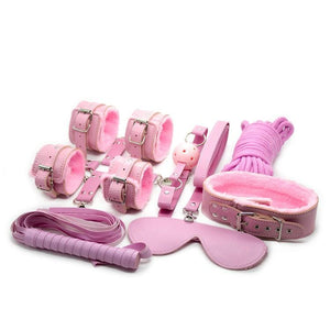 11 Piece Bondage Set Sissy Panty Shop pink
