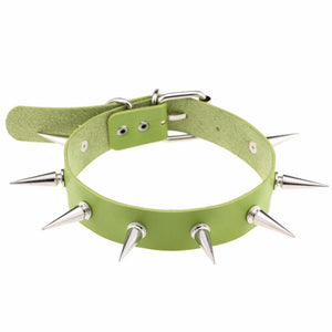 Spiked Sissy Choker Sissy Panty Shop Green
