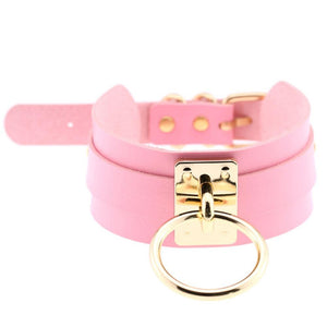 Sissy Slave Leather Choker Sissy Panty Shop Pink