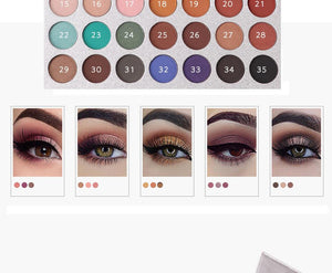 35 Color Eyeshadow Palette