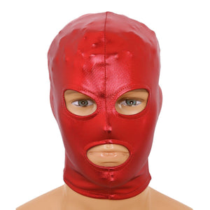 Latex Shiny Metallic Open Eyes and Mouth Mask Sissy Panty Shop