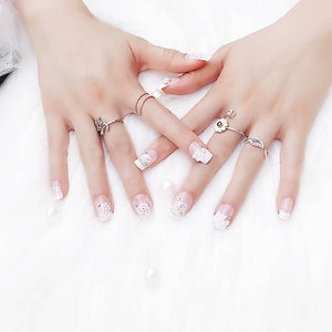 Luxury Rhinestone Flower Faux Nails Sissy Panty Shop Default Title