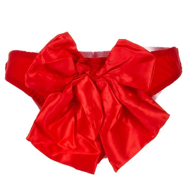 Big Bow Satin Sissy Panties Sissy Panty Shop Red