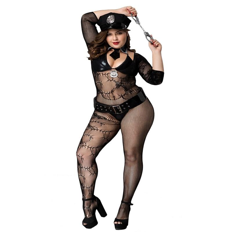 Sexy Police Costume Sissy Panty Shop