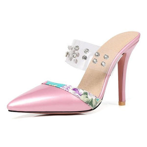 """Sissy Liz"" Rhinestone Pumps Sissy Panty Shop hot pink 4"