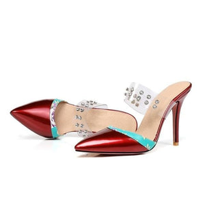 """Sissy Liz"" Rhinestone Pumps Sissy Panty Shop red 9"
