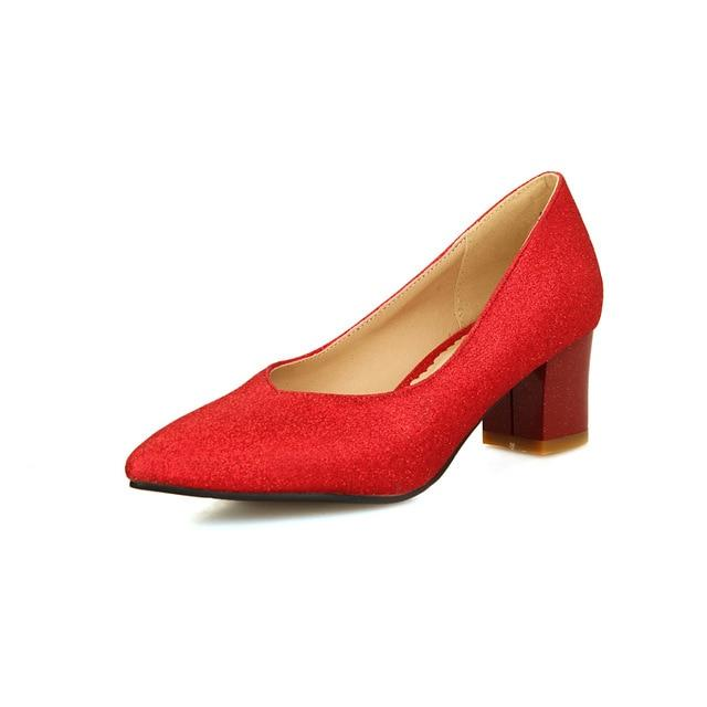 """Sissy Laura"" Pumps Sissy Panty Shop red 15.5"