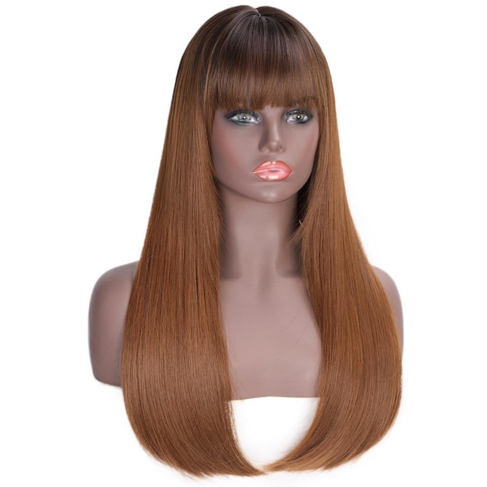 Straight Long Wigs with Bangs