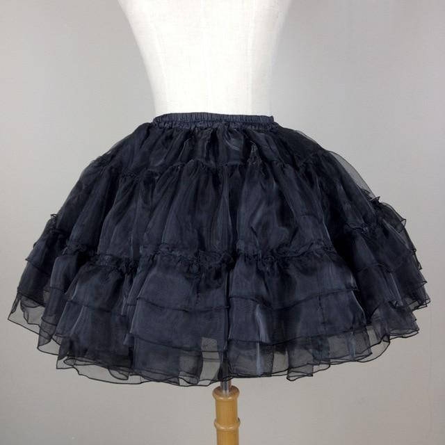 Organza Short Petticoat Sissy Panty Shop Black One Size