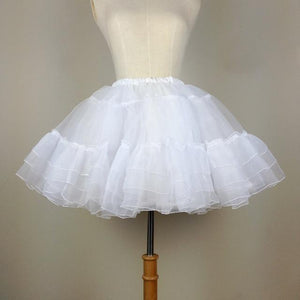 Organza Short Petticoat Sissy Panty Shop WHITE One Size