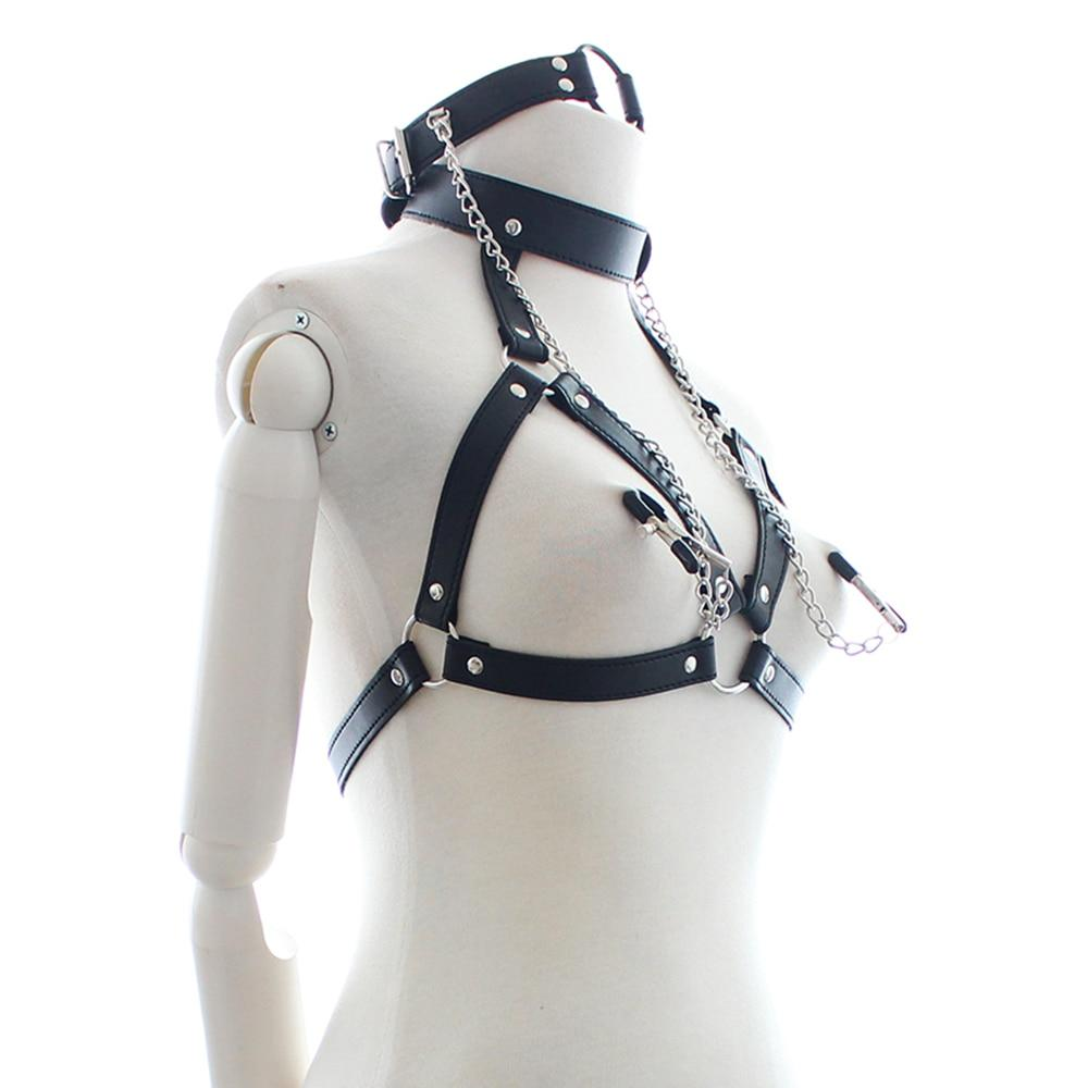 Faux Leather Restraints Nipple Clamps Sissy Panty Shop