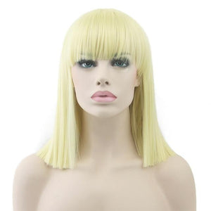 """Bimbo Suzy"" Short Wig w/ Bangs Sissy Panty Shop Yelow 16 inches"