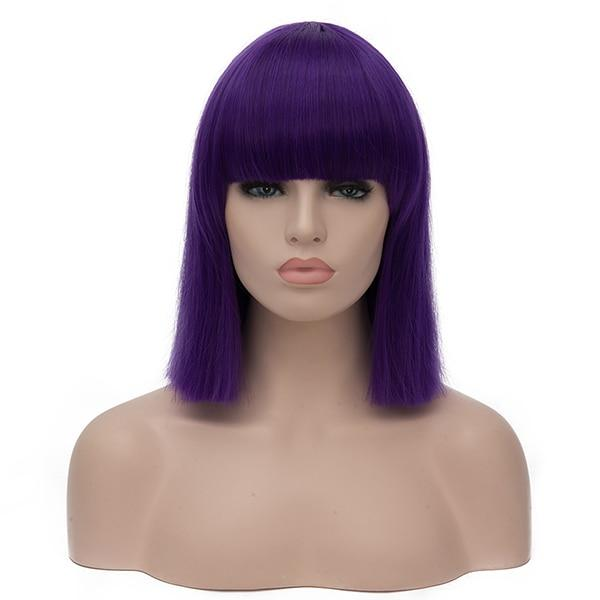 """Sissy Slave Nancy"" Wig w/ Bangs Sissy Panty Shop Purple 16 inches"