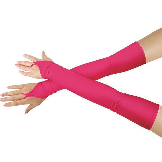 "18""  Lycra Fingerless Over Elbow Gloves"