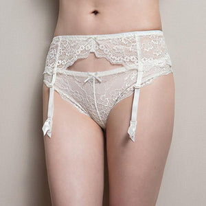 """Sissy Rebecca"" Lace Garters Sissy Panty Shop White S"