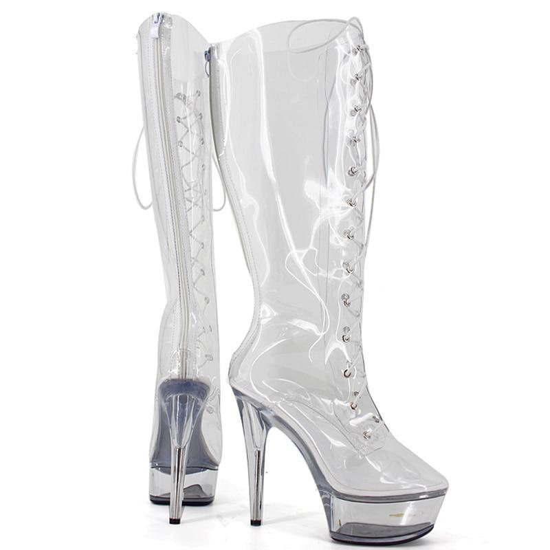 """Sissy Lola"" Transparent Boots Sissy Panty Shop"