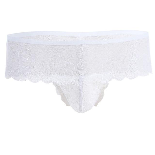 """Sissy Erika"" Lace Panties The Sissy Panty Shop White One Size"
