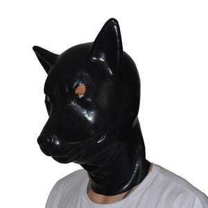 Latex Wolf Mask Sissy Panty Shop