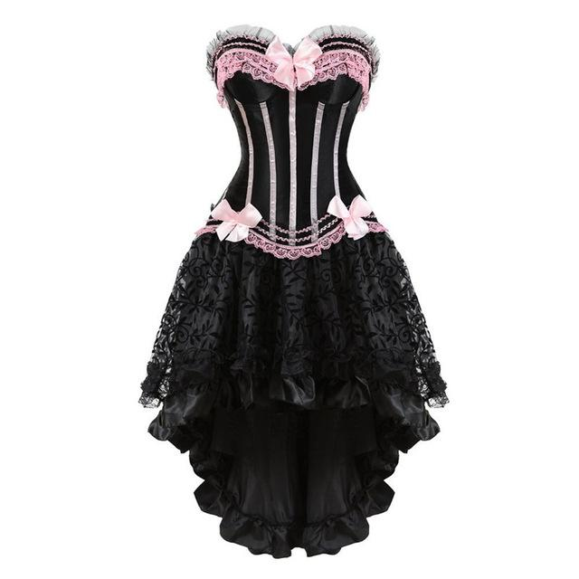 """Sissy Christina"" Lace & Bows Corset Dress"