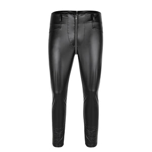 Faux Leather Zipper Pants Sissy Panty Shop