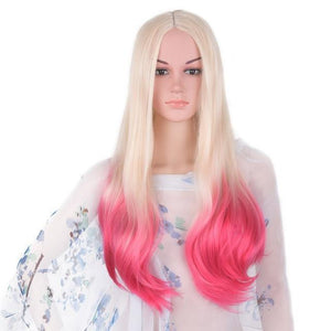 Bimbo Jane Wig Sissy Panty Shop blonde ombre pink 24inches