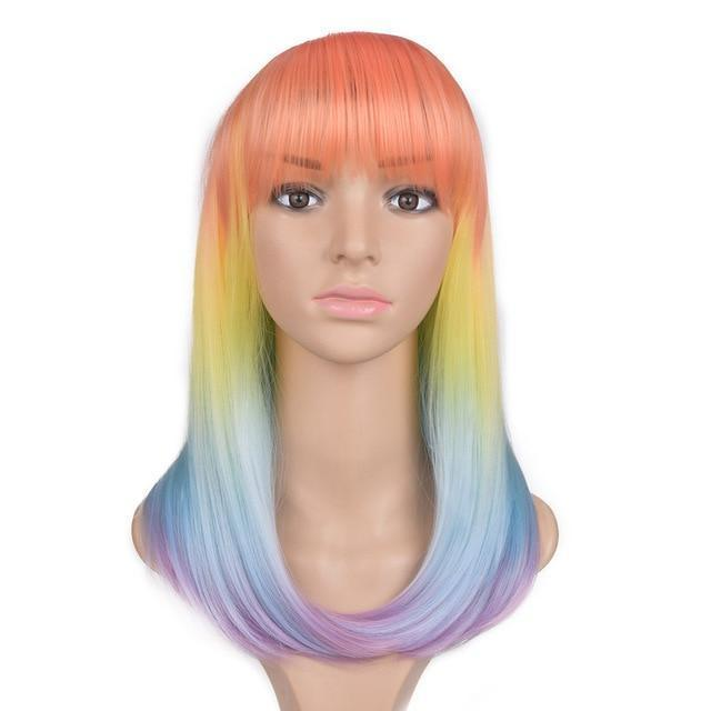 Bimbo Jane Wig Sissy Panty Shop rainbow 24inches