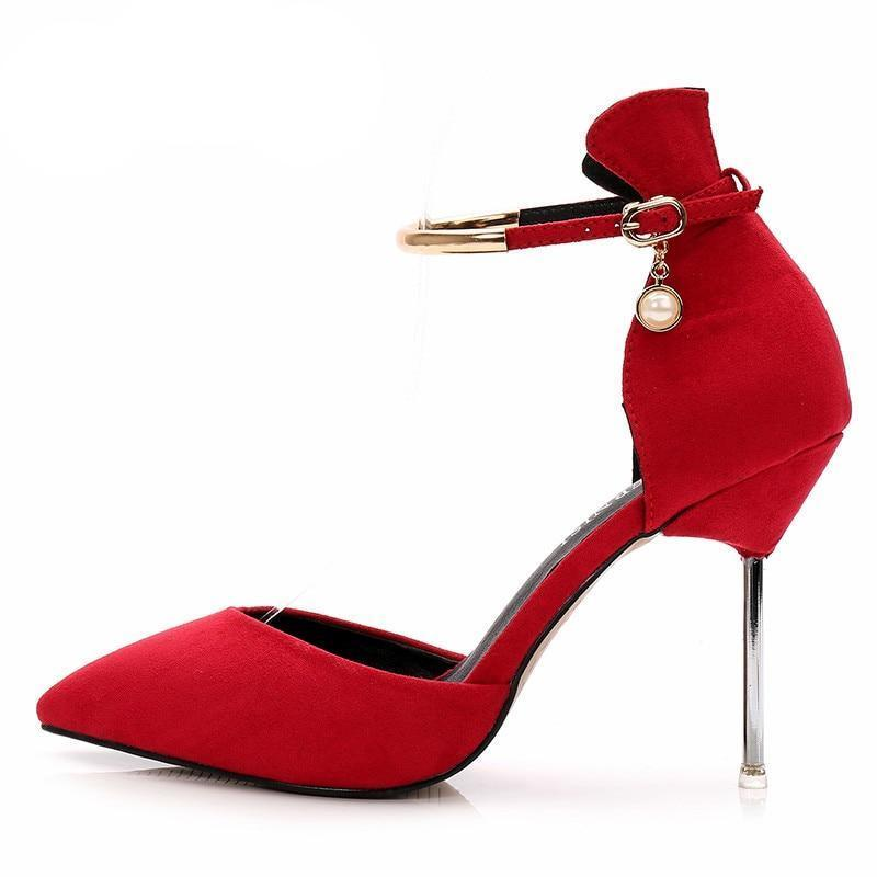 Sissy in Red Suede Pumps Sissy Panty Shop