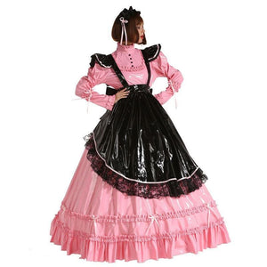 French Prissy Sissy Maid Lockable Long Dress