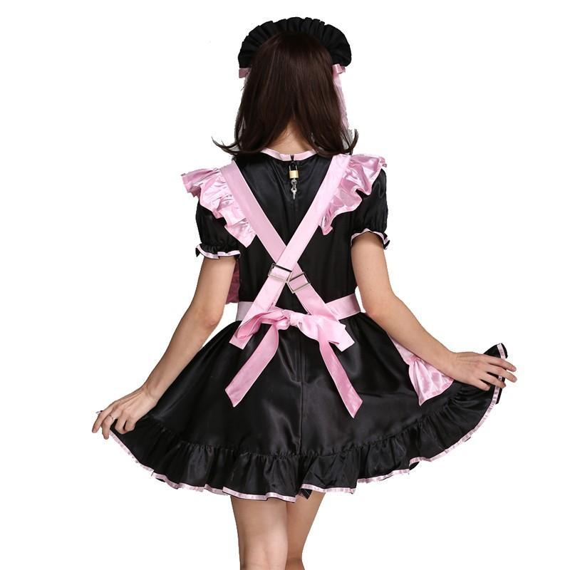 Forced Sissy Maid Satin Dress Sissy Panty Shop