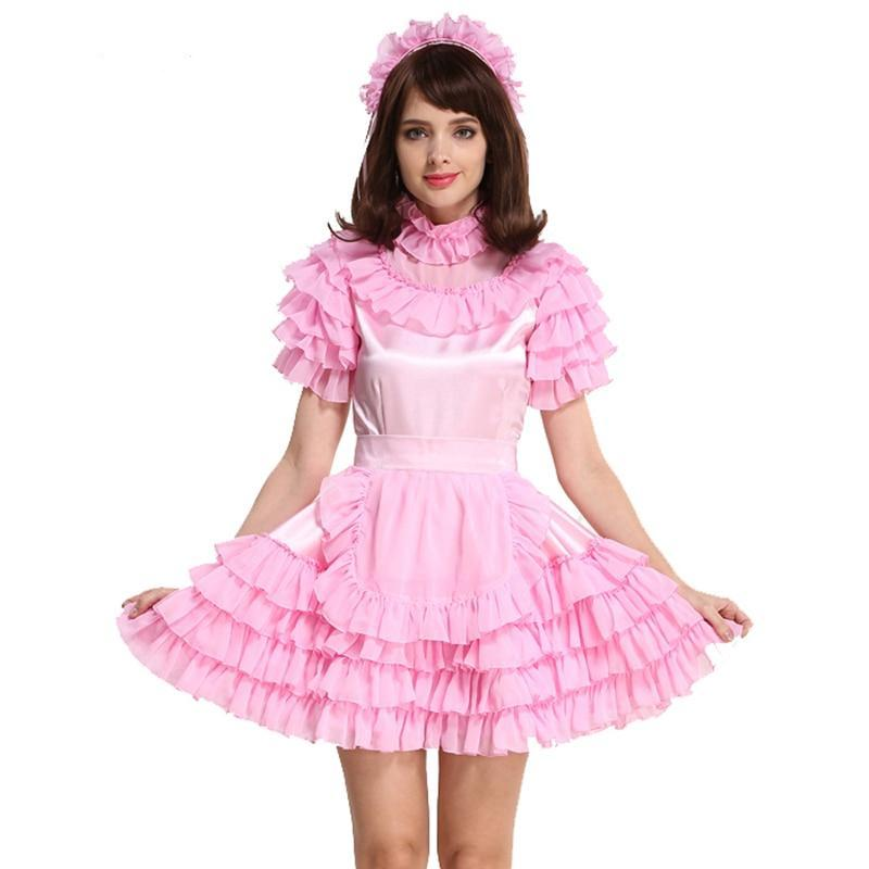 Forced Sissy Satin Maid Dress Sissy Panty Shop
