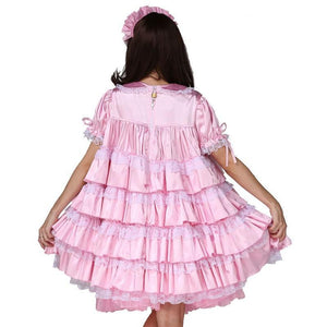 Baby Sissy Lockable Satin Dress Sissy Panty Shop